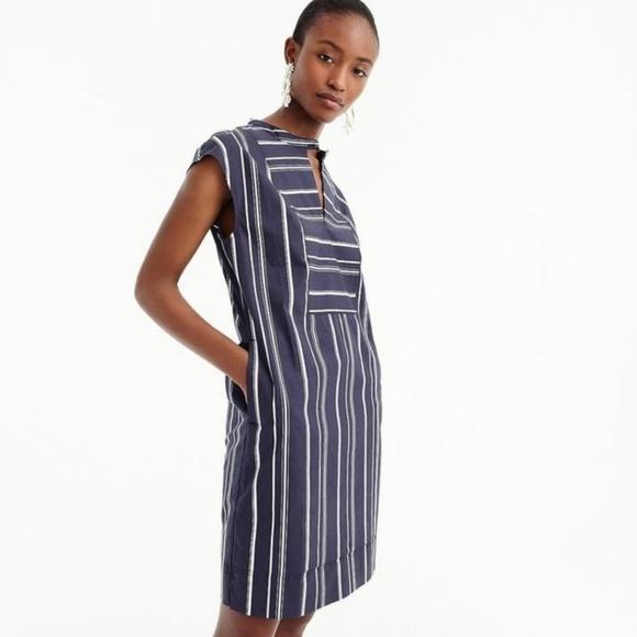 8d385137376 J. Crew Dresses | J Crew Easy Tunic Dress In Striped Poplin Size S ...